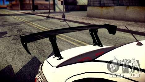Mitsubishi Lancer Evolution X Juuzo Itasha für GTA San Andreas Rückansicht