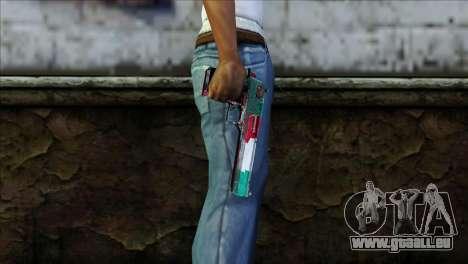 Desert Eagle Italia für GTA San Andreas dritten Screenshot