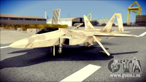 F-22 Raptor Desert Camo pour GTA San Andreas