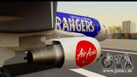 Airbus A320-200 AirAsia Queens Park Rangers pour GTA San Andreas vue de droite