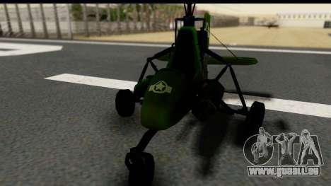 Gyrocopter pour GTA San Andreas vue de droite