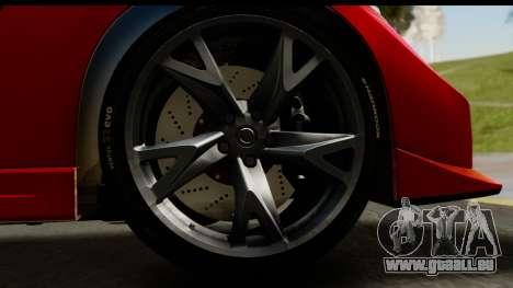 Nissan 370Z Nismo 2010 für GTA San Andreas Rückansicht
