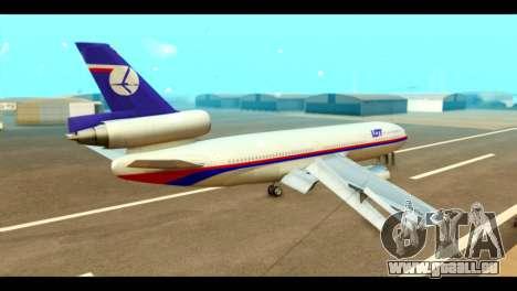 DC-10-30 PLL LOT pour GTA San Andreas laissé vue