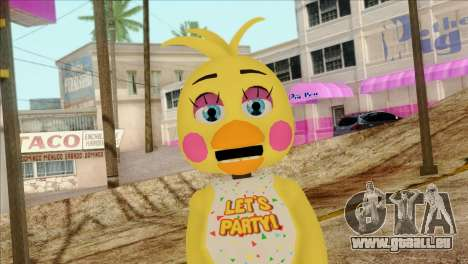 Toy Chica from Five Nights at Freddy 2 für GTA San Andreas dritten Screenshot