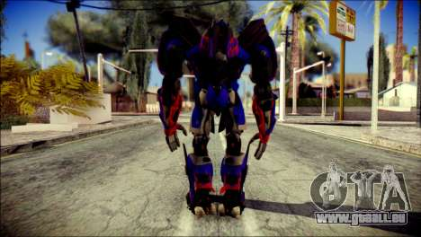 Optimus Prime Skin from Transformers für GTA San Andreas zweiten Screenshot