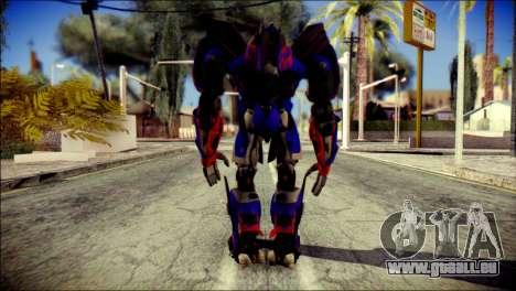 Optimus Prime Skin from Transformers pour GTA San Andreas deuxième écran