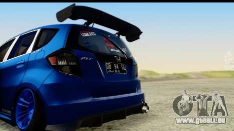 Honda Fit 2009 JDM Modification pour GTA San Andreas vue de droite