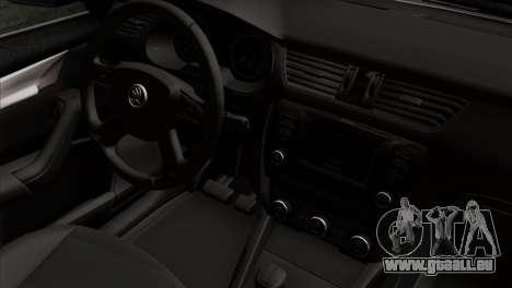 Skoda Octavia Police pour GTA San Andreas vue de droite