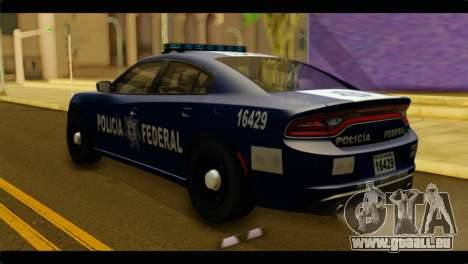 Dodge Charger 2015 Mexican Police pour GTA San Andreas laissé vue