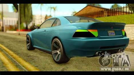 GTA 5 Ubermacht Zion XS IVF für GTA San Andreas linke Ansicht