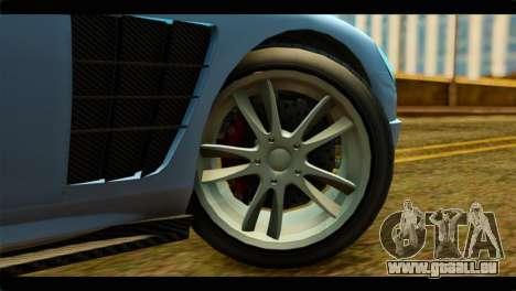 GTA 5 Ocelot F620 IVF pour GTA San Andreas sur la vue arrière gauche