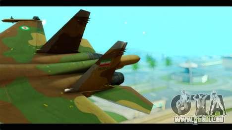Sukhoi SU-34 IRIAF für GTA San Andreas zurück linke Ansicht