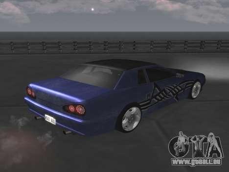 Elegy Paintjobs pour GTA San Andreas vue de droite