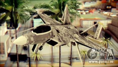 F-22 Raptor Digital Camo für GTA San Andreas Rückansicht