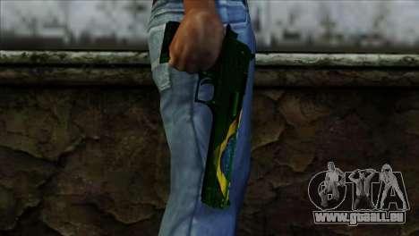 Desert Eagle Brazil für GTA San Andreas dritten Screenshot