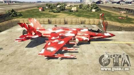 Hydra red camouflage pour GTA 5