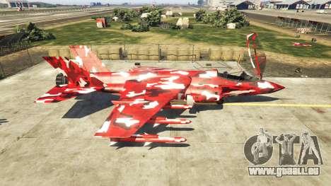 GTA 5 Hydra red camouflage zweite Screenshot