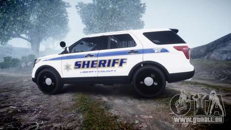 Ford Explorer Police Interceptor [ELS] slicktop für GTA 4 linke Ansicht