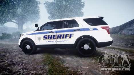 Ford Explorer Police Interceptor [ELS] slicktop pour GTA 4 est une gauche