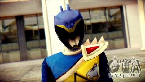 Power Rangers Kyoryu Blue Skin pour GTA San Andreas troisième écran