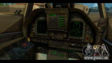 FA-18 Jolly Roger Black pour GTA San Andreas vue arrière