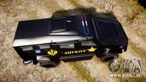 GTA V HVY Insurgent Pick-Up SWAT [ELS] für GTA 4 rechte Ansicht
