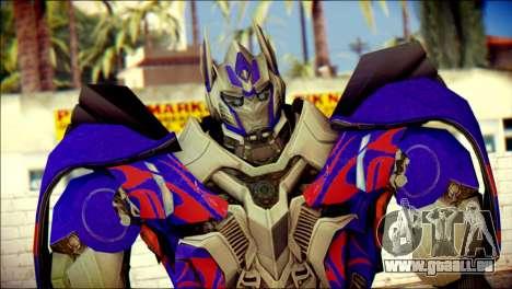 Optimus Prime Skin from Transformers pour GTA San Andreas troisième écran