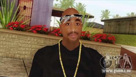 Tupac Shakur Skin v2 für GTA San Andreas dritten Screenshot