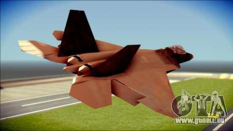 F-22 Raptor G1 Starscream für GTA San Andreas linke Ansicht