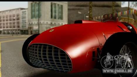 Ferrari 375 F1 für GTA San Andreas zurück linke Ansicht