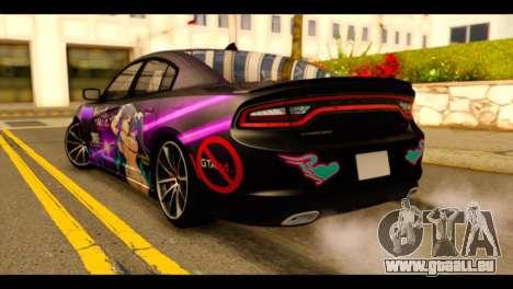 Dodge Charger RT 2015 Hestia pour GTA San Andreas laissé vue