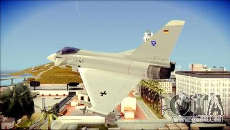 EuroFighter Typhoon 2000 Luftwaffe pour GTA San Andreas laissé vue
