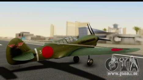 P-40E Kittyhawk IJAAF pour GTA San Andreas laissé vue