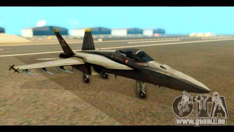 FA-18 Jolly Roger Black für GTA San Andreas