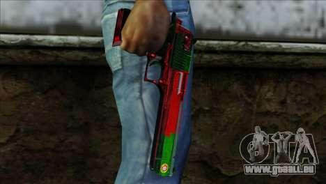 Desert Eagle Portugal für GTA San Andreas dritten Screenshot