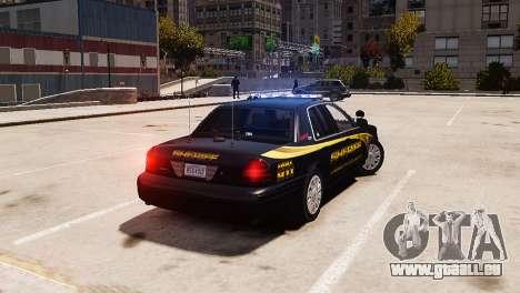Ford Crown Victoria Sheriff LC [ELS] pour GTA 4 est une gauche
