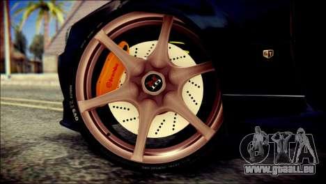 Nissan Skyline GTR V Spec II v2 pour GTA San Andreas sur la vue arrière gauche