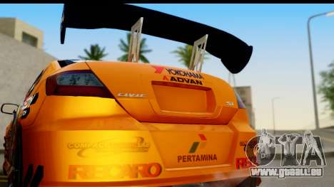 Honda Civic SI Juiced Tuned Shinon Itasha für GTA San Andreas rechten Ansicht
