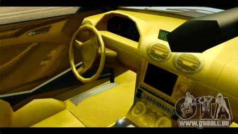 GTA 5 Ocelot F620 IVF pour GTA San Andreas vue de droite