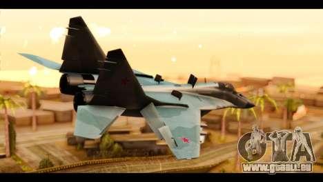 MIG-29 Fulcrum für GTA San Andreas linke Ansicht