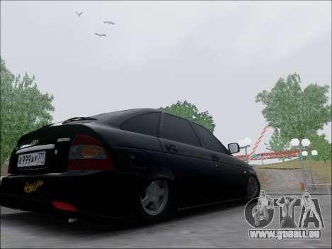 Lada Priora Hatchback pour GTA San Andreas sur la vue arrière gauche