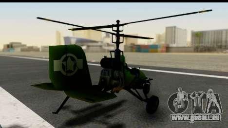 Gyrocopter pour GTA San Andreas laissé vue