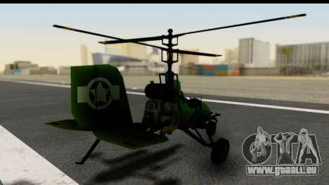 Gyrocopter für GTA San Andreas linke Ansicht