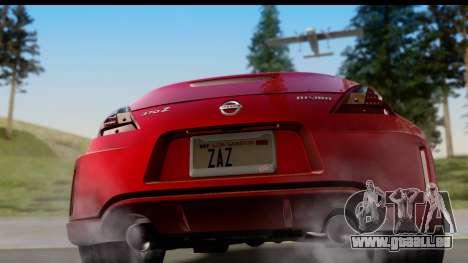 Nissan 370Z Nismo 2010 pour GTA San Andreas vue de droite