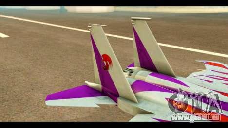 F-15C Air Combat pour GTA San Andreas sur la vue arrière gauche