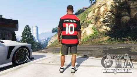 GTA 5 Flamengo T-Shirt - Camisa do Flamengo de 2000-01 troisième capture d'écran