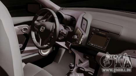 Honda CRZ Mugen Stance Miku Itasha pour GTA San Andreas vue de droite