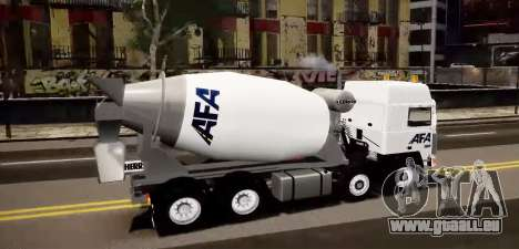 Volvo F10 cement truck pour GTA 4 est une gauche