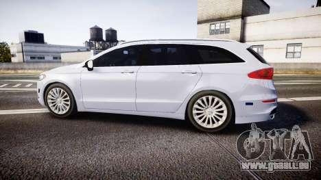 Ford Fusion Estate 2014 Unmarked Police [ELS] pour GTA 4 est une gauche