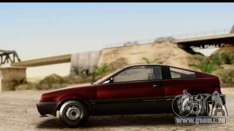 GTA 5 Dinka Blista Compact für GTA San Andreas Rückansicht